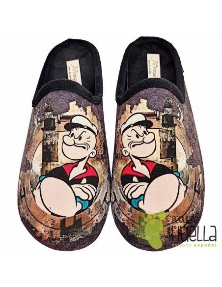 Zapatillas Popeye para casa J. Ortega V269