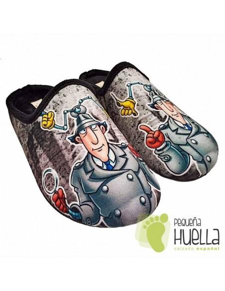 Zapatillas de casa para chico inspector Gadget