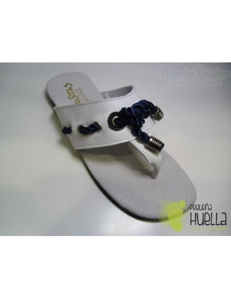 Sandalias Marineras Blancas