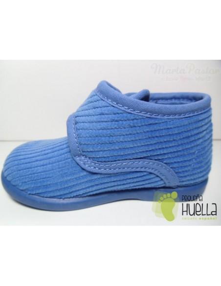 Zapatillas Casa Botitas Pana Color Azulón