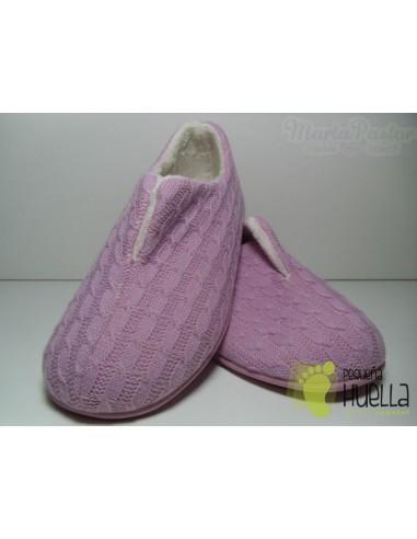 Zapatillas Lana Rosas