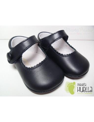 Mercceditas Napa Velcro Azul Marino