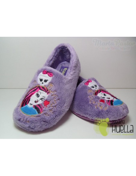 Zapatillas Casa Monster High Lila