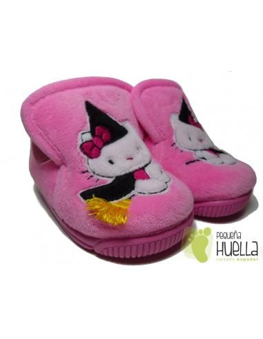 Zapatillas Casa Botita Kitty Brujita Rosa