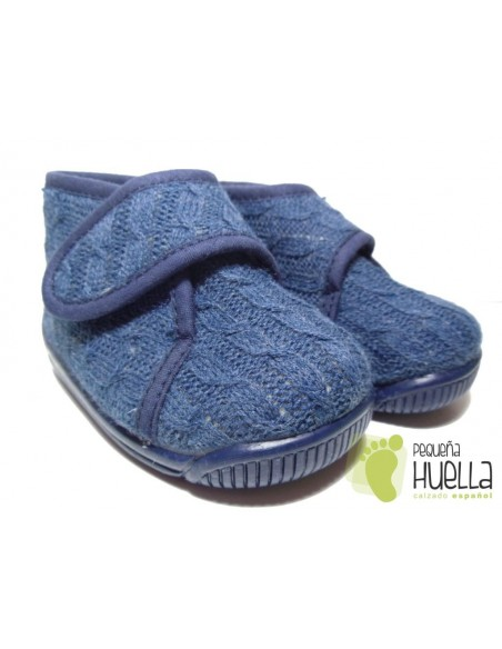 Zapatillas Casa Botita Lana Marino