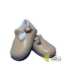 Pepitos Piel Hebilla Camel