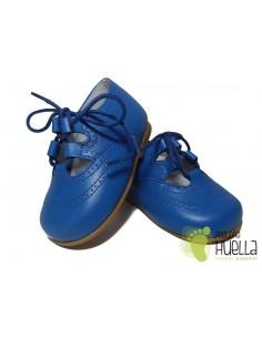 Zapato inglés Piel, sin Lengüeta, Azulón