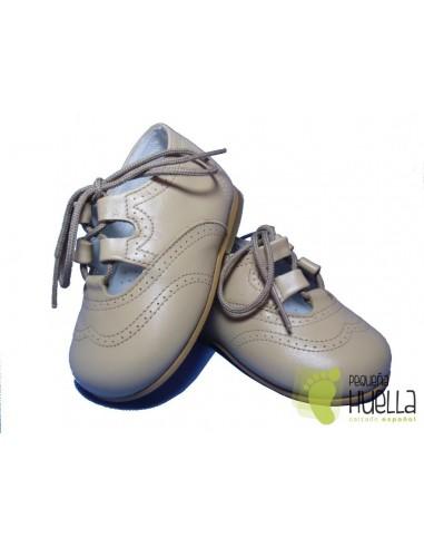 Zapato inglés Piel, sin Lengüeta, Camel