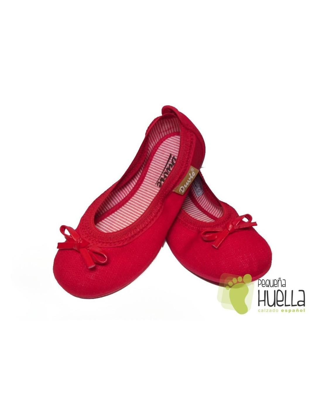 el más nuevo f27f6 169d8 Bailarinas Niñas Rojas Lona, baratas en Las Rozas