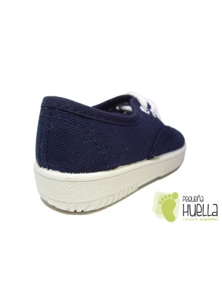 Zapatillas  Con Cordones Tipo Victoria, Azules Marino