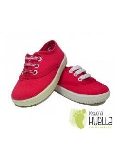 Zapatillas Con Cordones Tipo Victoria, Rojas