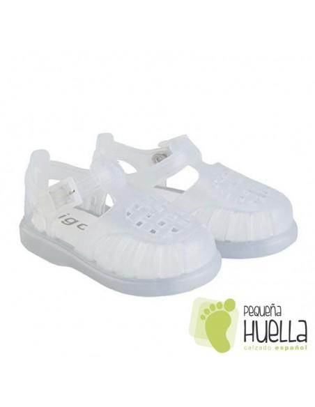 Cangrejeras Blancas de Goma