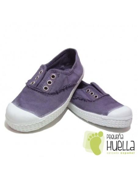 Zapatillas Lona La Cadena, Color Azul Hortensia