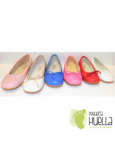 Baratos Bailarina De Piel En Zapato Madrid Rosa Niñas Chicle Para 0Xwkn8OP