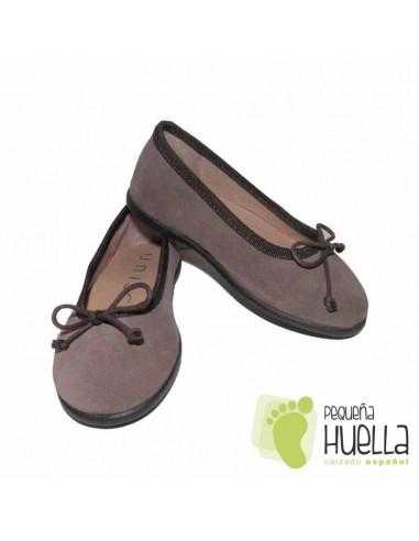 fd343433d8a Bailarina serraje marrón para niñas