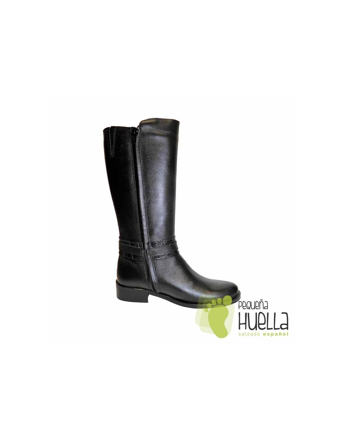 e5ab5072fef Comprar botas altas de piel negras para niñas online