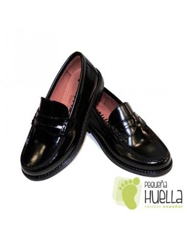6942af6c1a0 Zapatos Colegiales Mocasin Negro florenti