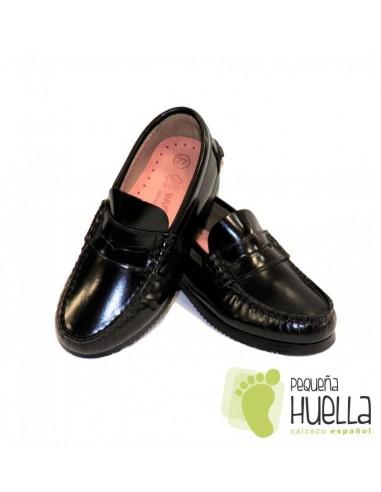 Zapatos Castellanos Mocasines de Piel para el Colegio 121e2353e971