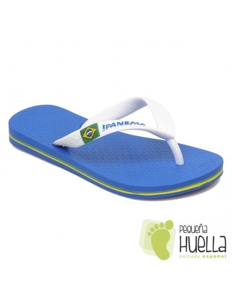 Sandalias de Goma o Chancla Azul
