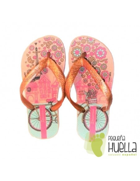 Sandalias o Chancla de Caucho Natural Color Rosa Palo