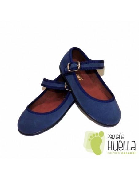 Merceditas Serraje azul jeans Chuches  baratas precio outlet en Las Rozas