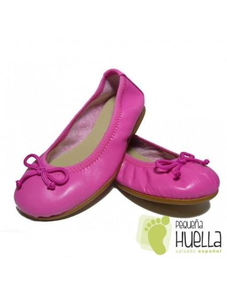 Bailarinas o Manoletinas para niñas rosa chicle en Las Rozas