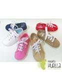 Zapatillas lona playeras bambas para niños y niñas con cordones ZAPY baratas en las rozas