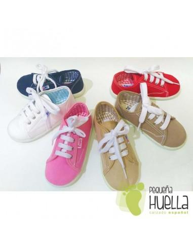 988161ab3 Zapatillas lona playeras bambas para niños y niñas con cordones ZAPY baratas  en las rozas
