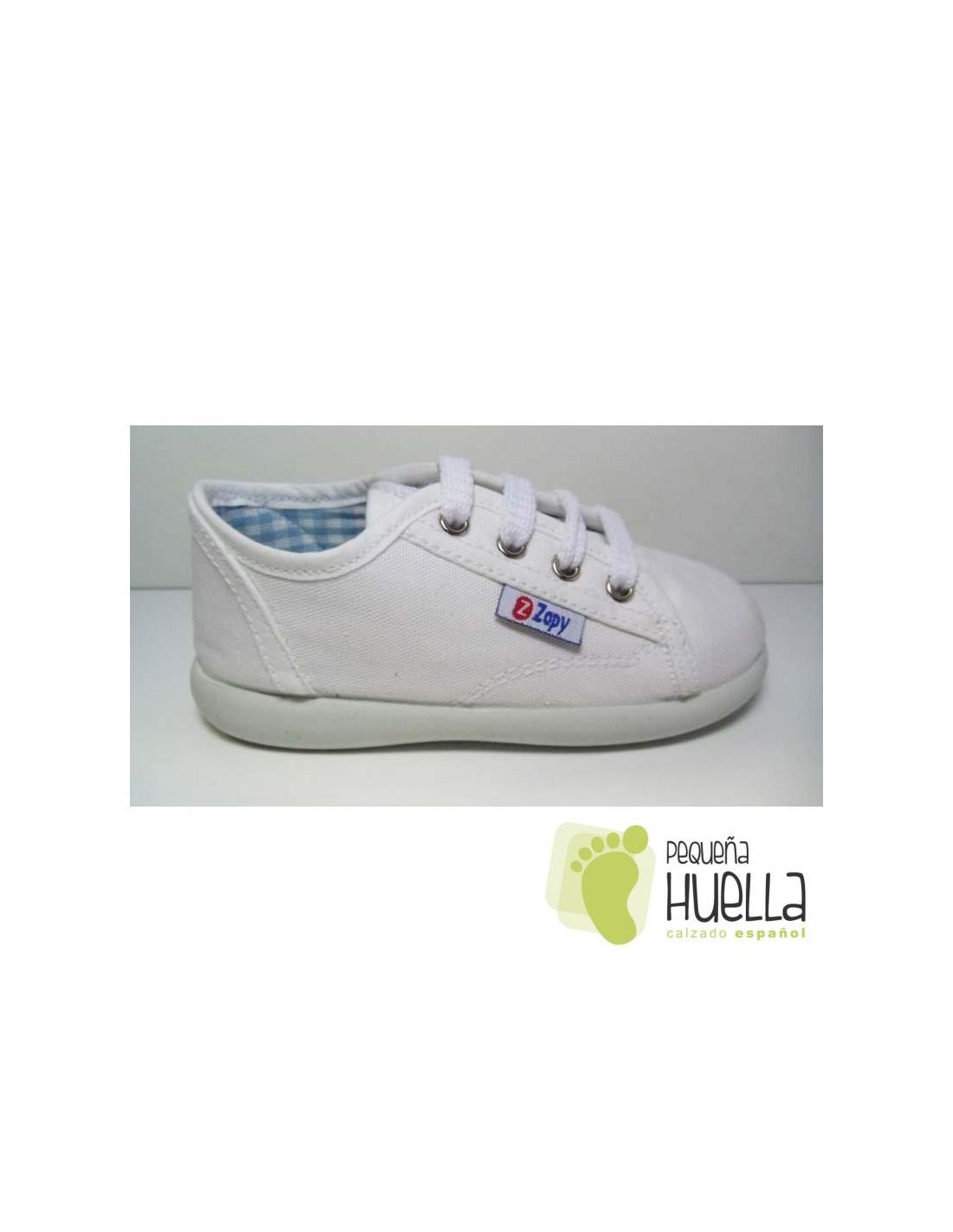 1ed8e6f97 ... Zapatillas lona rosa playeras bambas blancas para niños y niñas con  cordones ZAPY baratas en las ...