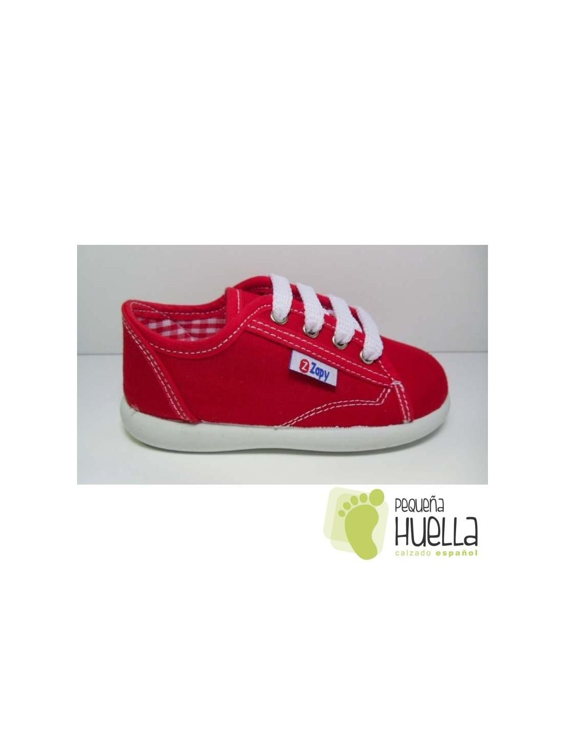 9af565a37 ... Zapatillas lona rosa playeras bambas rojo para niños y niñas con  cordones ZAPY baratas en las ...