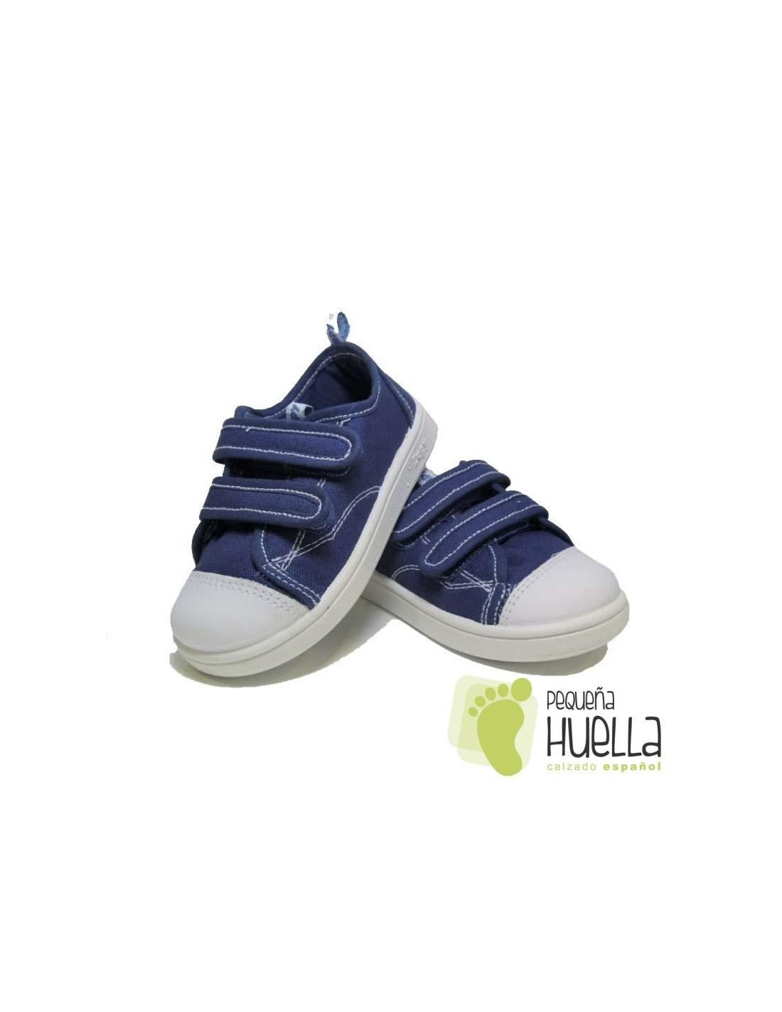 f470472b0 ... Zapatillas Lona azul jeans vaquero tejano playeras bambas con Velcros  para niños y niñas Zapy 528 ...
