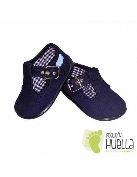 Pepitos Sandalias zapatos de Lona azul marino Zapy con hebilla bebes, niños y niñas baratas en las rozas