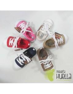 Zapatillas Lona para Niños y Niñas Con Cordones y Cremallera Zapy