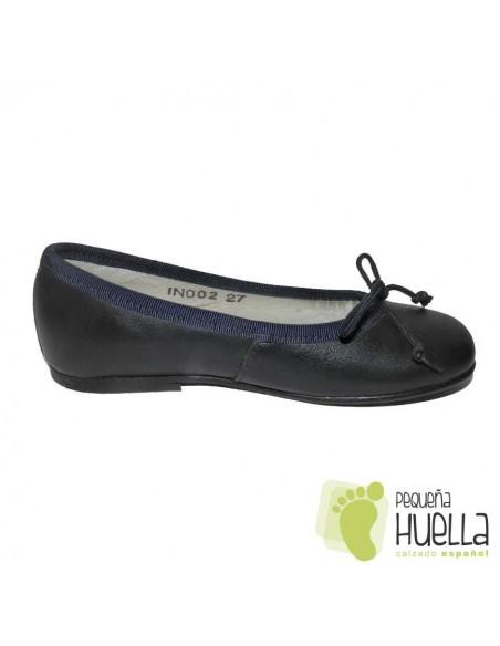 Bailarinas Manoletinas Niñas Piel azul marino en las rozas