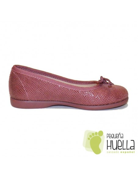 Manoletina bailarina niña serratex rosas azo Tokolate en las rozas
