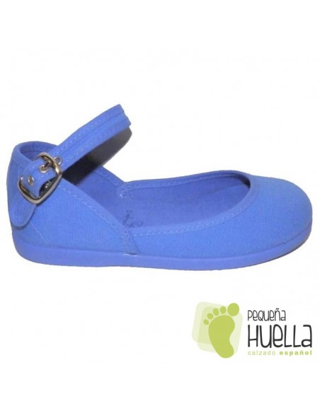 Zapatillas Niña tela azulón Tokolate Tobillera