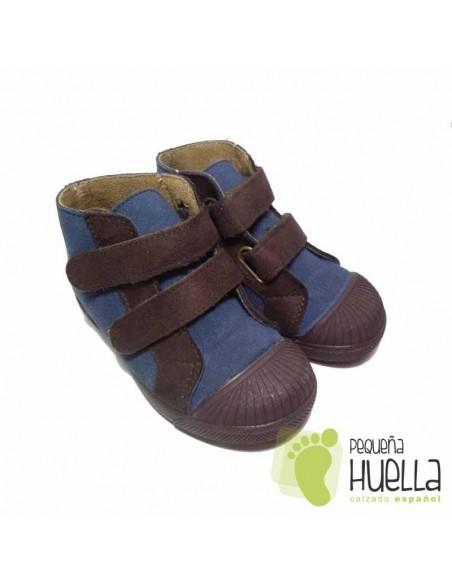 Botas Niñas azules Velcro baratas en las rozas