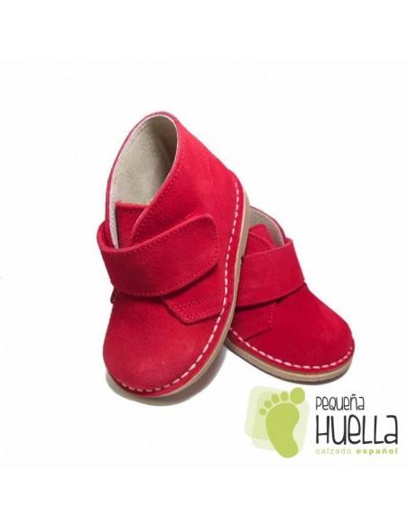 Pisacacas Niñas Niños Rojas, Botas Safari Velcro