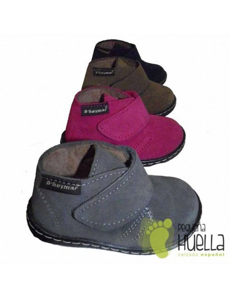 Bota Bebe Niño Niña Serraje Velcro
