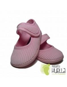 Zapatillas Casa Merceditas Pana Rosas