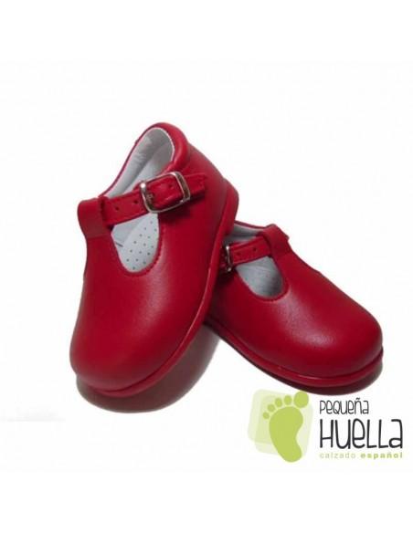 Zapatos Niño Pepitos de Piel Rojos